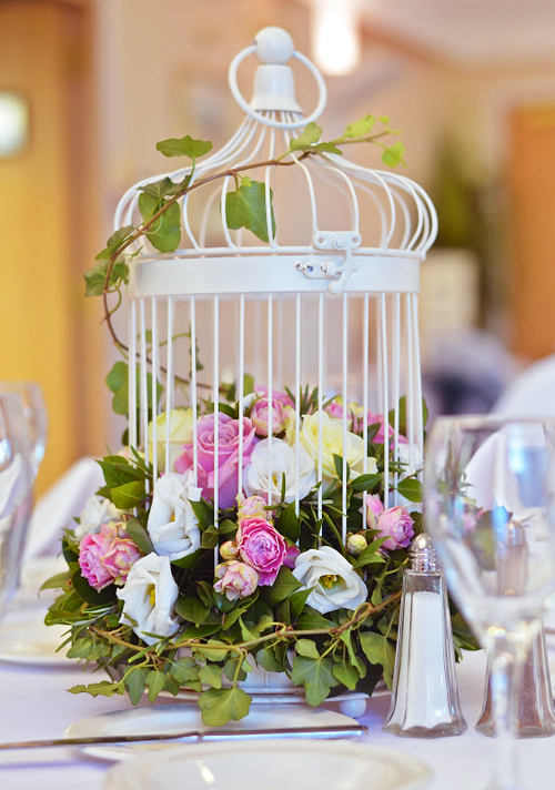 ivory-birdcage-tablecentre-pink-green-flowers