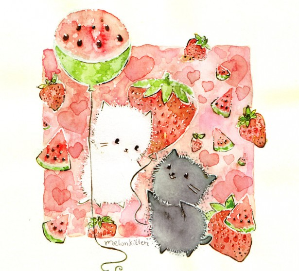 strawberries_and_watermelons_by_melonkitten-d50f3fq
