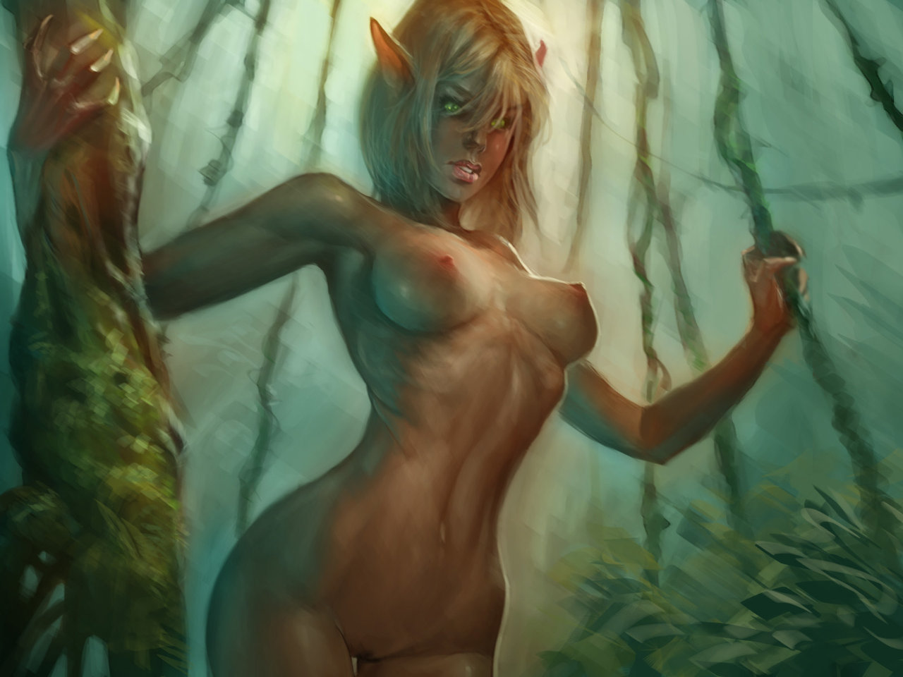 Sexy naked fantasy elves cartoon tube